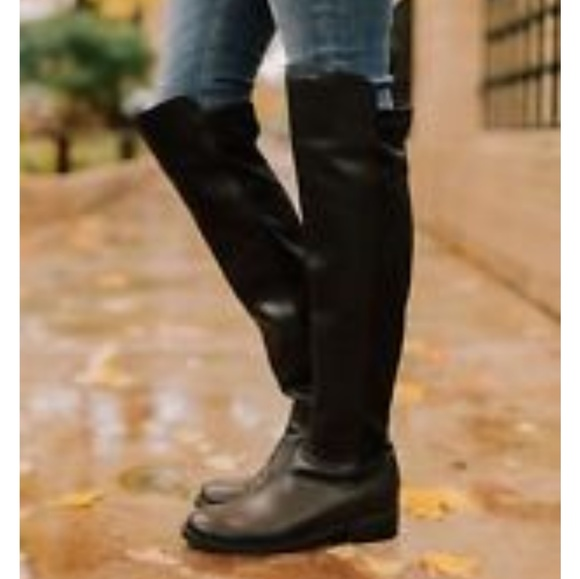 199ed6babc0 Blondo black suede waterproof over the knee boots